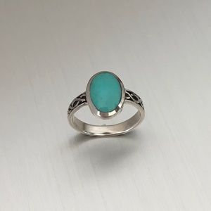 Jewelry - Sterling Silver Celtic Synthetic Turquoise Ring